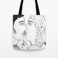 the man who uses his tongue like a weapon Tote Bag
