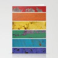 Texture Rainbow Stationery Cards