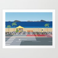 Art Print featuring IPANEMA by LUCIA BROMBERG