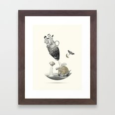 To the moon & back Framed Art Print