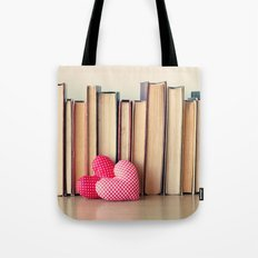 Books And Hearts Tote Bag