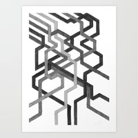 Black And White Metro Art Print