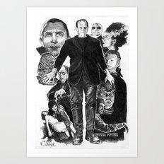 Universal film monsters Art Print