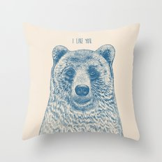 Bear (Ivory) Throw Pillow