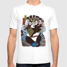 Pantoo SMALL White Mens Fitted Tee