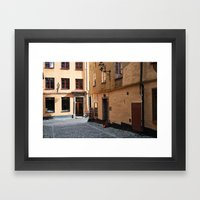 Sunrise in Gamla Stan Framed Art Print