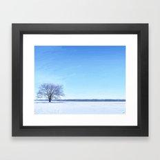 Shades of Winter Framed Art Print