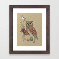 owl nr2 Framed Art Print
