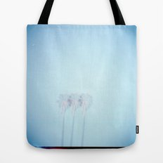 Triple Exposed Palm Trees Tote Bag
