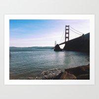 Golden Gate Bridge. Autu… Art Print