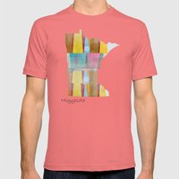 Minnesota state map  Mens Fitted Tee Pomegranate SMALL