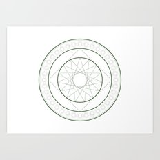 Anime Magic Circle 4 Art Print