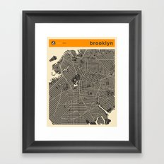 BROOKLYN MAP Framed Art Print