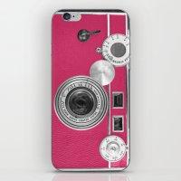 Pink Fashion Camera iPhone & iPod Skin