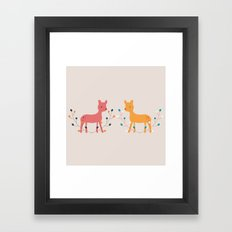 deer fun Framed Art Print