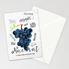 Watercolor grapes Stationery Cards
