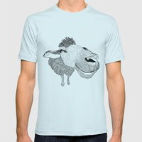 Sheepy Mens Fitted Tee Light Blue SMALL