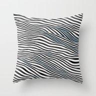 Ocean Of Lines Throw Pillow