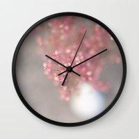 pink coral bells Wall Clock
