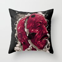 See no devil Throw Pillow