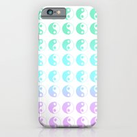 turquoise yin yang gradient iPhone 6 Slim Case