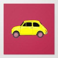 A tiny Fiat Canvas Print