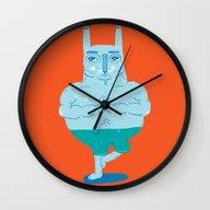 Zen Rabbit Wall Clock