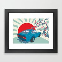 Datsun Z Framed Art Print