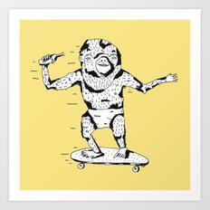 Skate Monkey Art Print