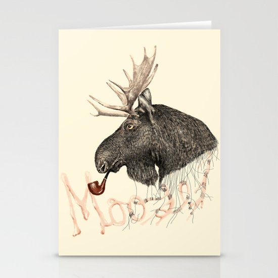 moose Stationery Card
