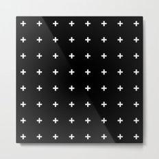 White Plus on Black /// www.pencilmeinstationery.com Metal Print