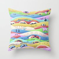 Psycake C Throw Pillow