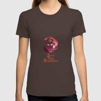 Burn your Enemies Womens Fitted Tee Brown SMALL
