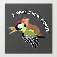 A Whole New World! Canvas Print