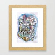 Psyche Town Framed Art Print