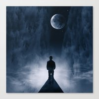 Blue Dream Night Canvas Print