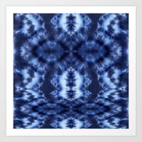 Topanga Tie-Dye Blue Art Print