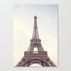 Hazed Eiffel Tower Canvas Print