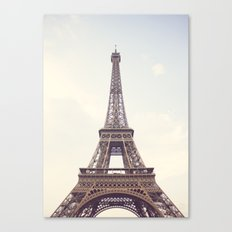 Hazed Eiffel Tower Canvas Print