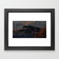 Walking bridge Framed Art Print