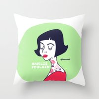 Amelie Poulain Throw Pillow