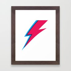 Bowie Lightning Bolt Face Paint Framed Art Print