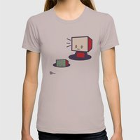 Robots In Holes Womens Fitted Tee Cinder SMALL