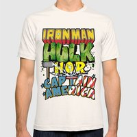 The Avengers Mens Fitted Tee Natural SMALL