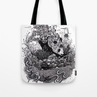 Land of the Sleeping Giant (ink drawing) Tote Bag
