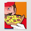 The secret Life of Heroes - MarioFood Canvas Print