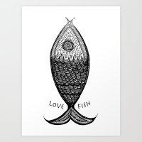 LoveFish Art Print