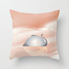 little dragon in his dream illustration  Throw Pillow