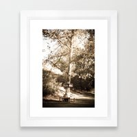 READING TREE Framed Art Print