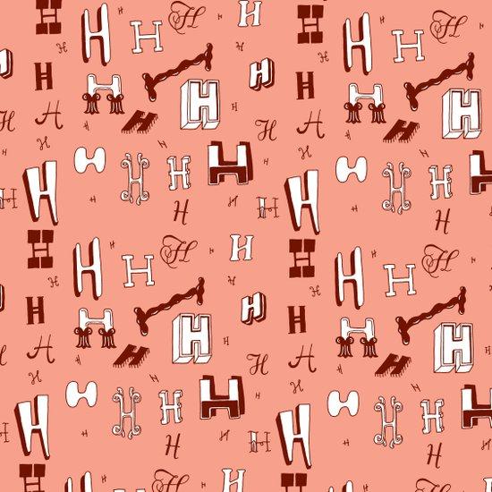 Letter Patterns, Part H Art Print